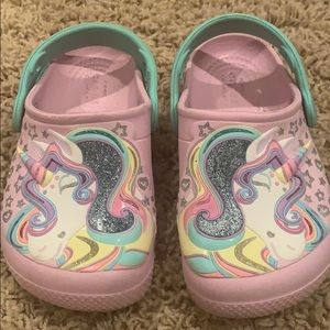 Unicorn Crocs size 9